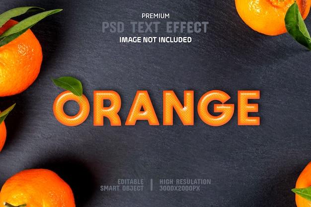 Editierbare orange text-effekt-vorlage Premium PSD