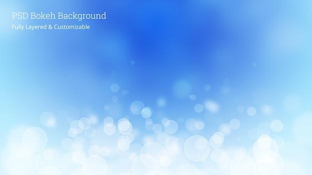 Editierbare psd bokeh hintergrund Premium PSD
