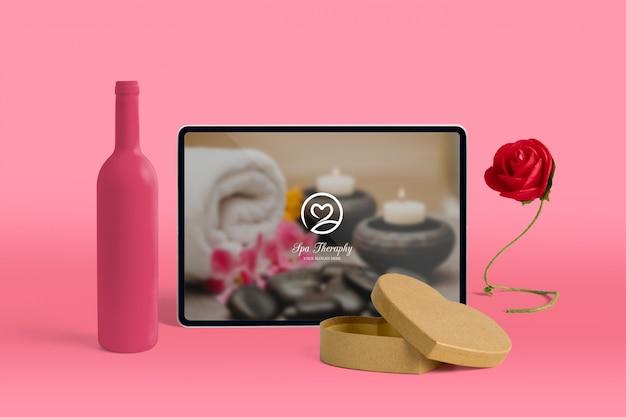 Editierbares szenenschöpfermodell mit valentinsgrußtageskonzept Kostenlosen PSD
