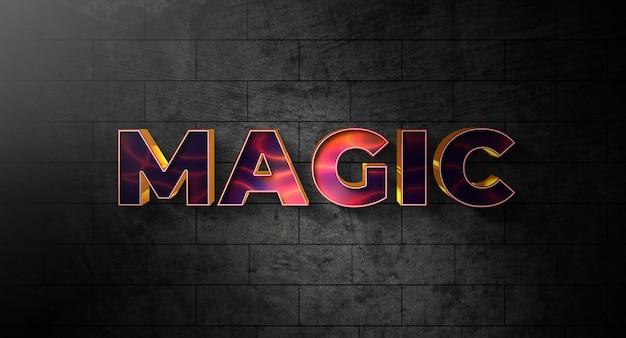 Effektvorlage für magischen textstil Premium PSD
