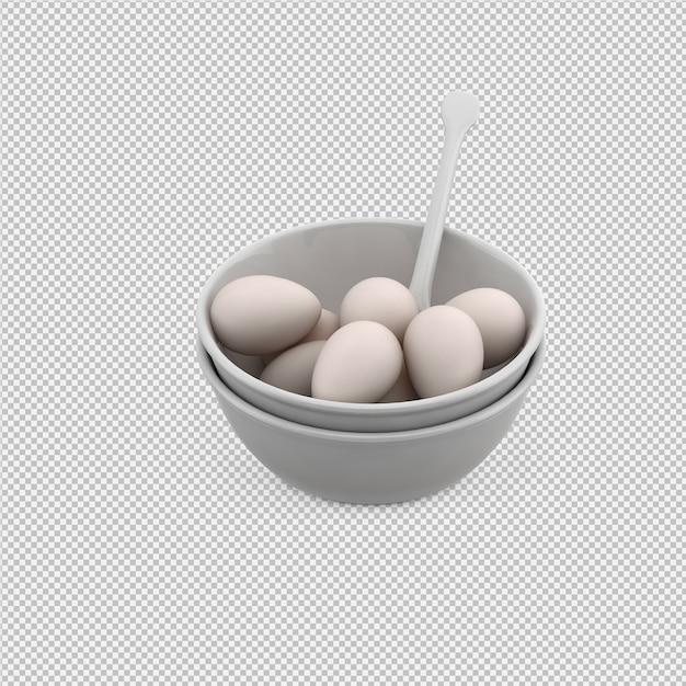 Eier 3d übertragen Premium PSD