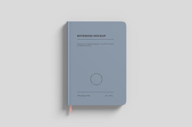 Einfache notebook mockup draufsicht Kostenlosen PSD