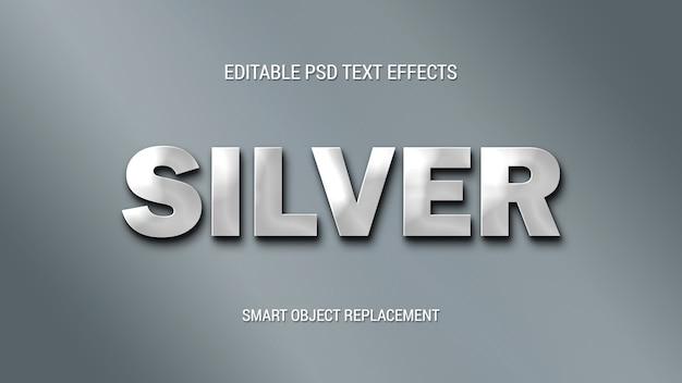 Einfache silbertexteffekte Premium PSD