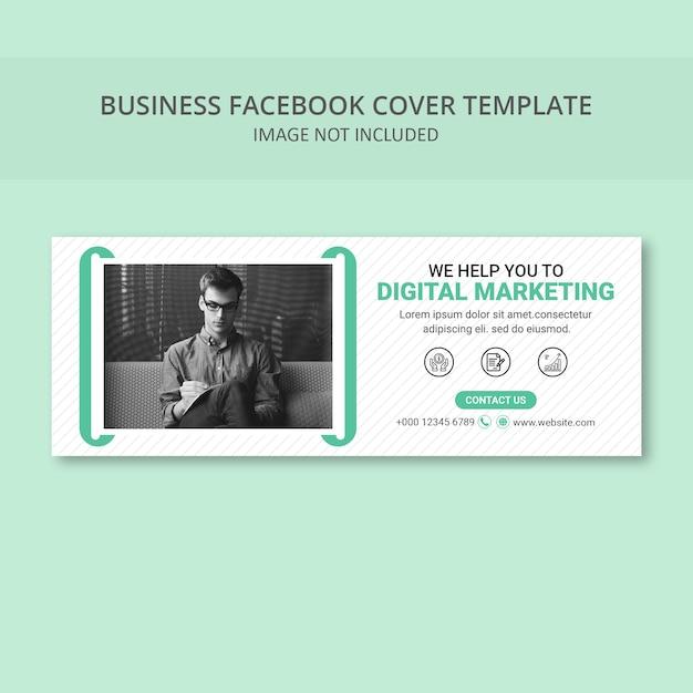 Einfache social media cover banner vorlage Premium PSD