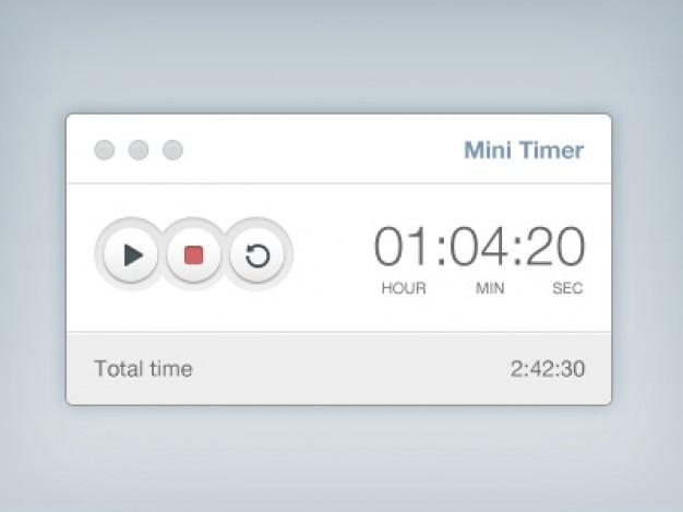 Einfache timer mit den tasten Kostenlosen PSD