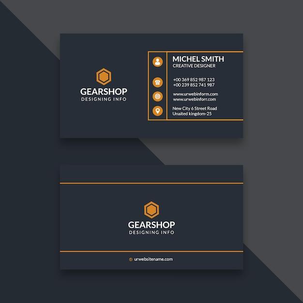 Einfache und saubere visitenkarte Premium PSD