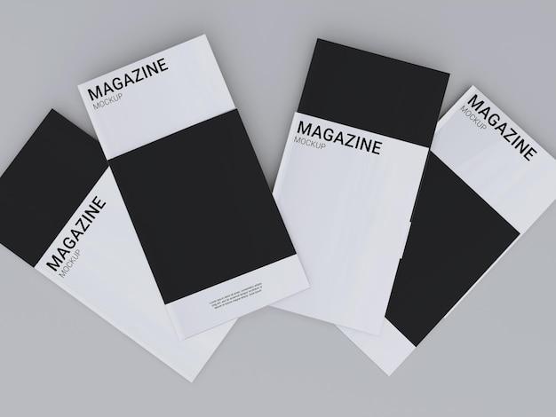 Einfaches magazin-modelldesign Premium PSD