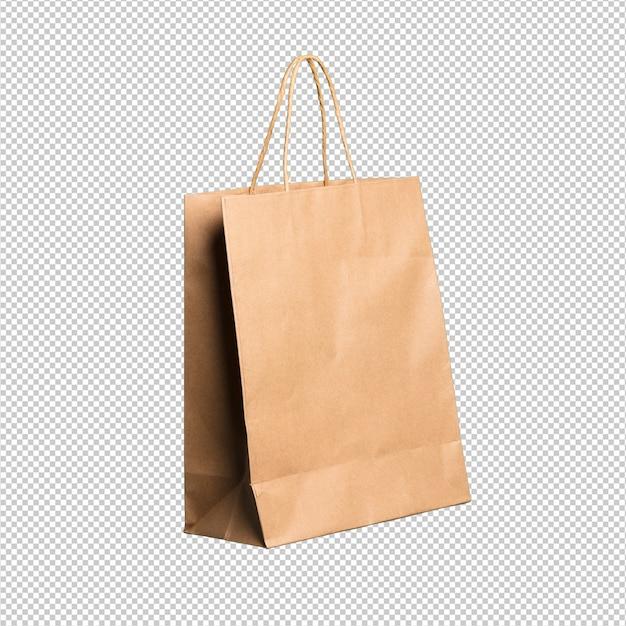 Einkaufstasche über weißem hintergrund Premium PSD