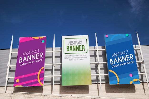 Einkaufszentrum billboard-modell Kostenlosen PSD