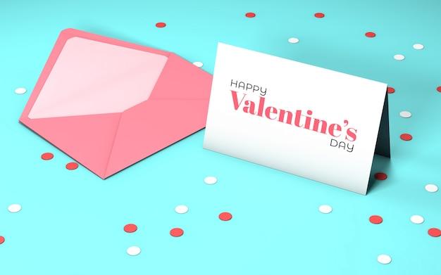 Einladung zum valentinstag mit umschlag Kostenlosen PSD