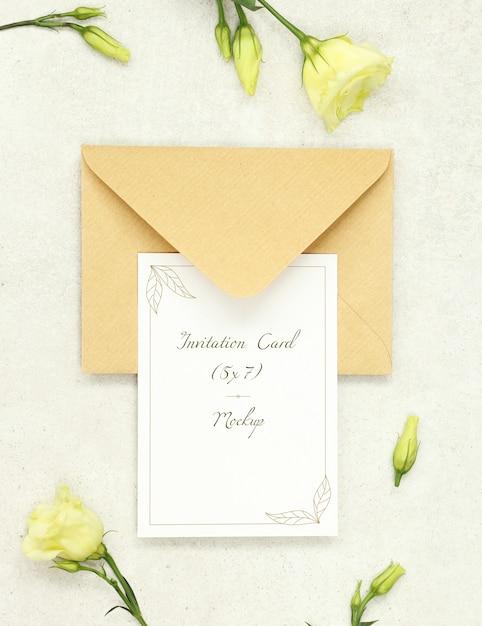 Einladungskarte mit umschlag Premium PSD