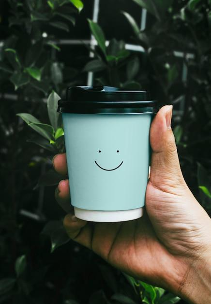 Einweg-kaffee-pappbecher-modelldesign Kostenlosen PSD