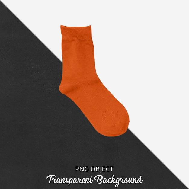 Einzelne orange socken auf transparentem hintergrund Premium PSD