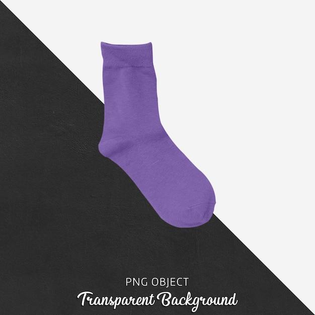 Einzelne purpurrote socken auf transparentem hintergrund Premium PSD
