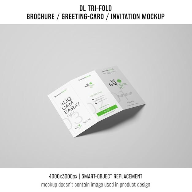 Einzelnes dreifaches broschüren- oder einladungsmodell Kostenlosen PSD