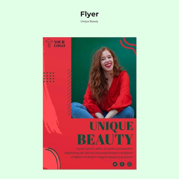 Einzigartiger beauty-flyer Kostenlosen PSD