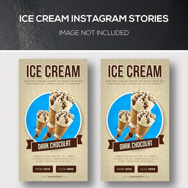 Eis instagram geschichten Premium PSD