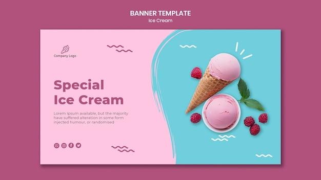 Eiscreme-laden-bannerschablone Premium PSD