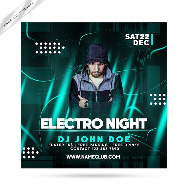Electro-night-flyer-party Premium PSD