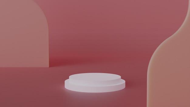Elegante szene mit podium und abstraktem hintergrund. Premium PSD