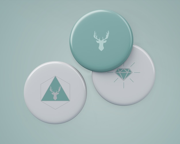 Elegantes abzeichen-modell für das merchandising Kostenlosen PSD