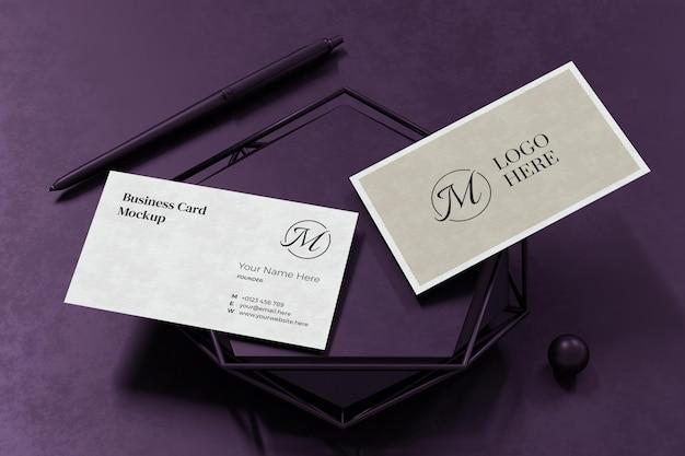 Elegantes visitenkarten-modelldesign in der 3d-darstellung Premium PSD