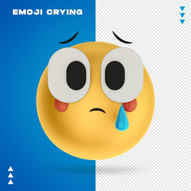 Emoji crying 3d rendering isoliert Premium PSD