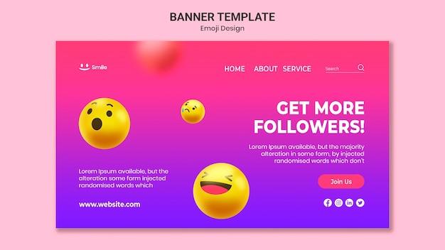 Emoji design banner vorlage Kostenlosen PSD