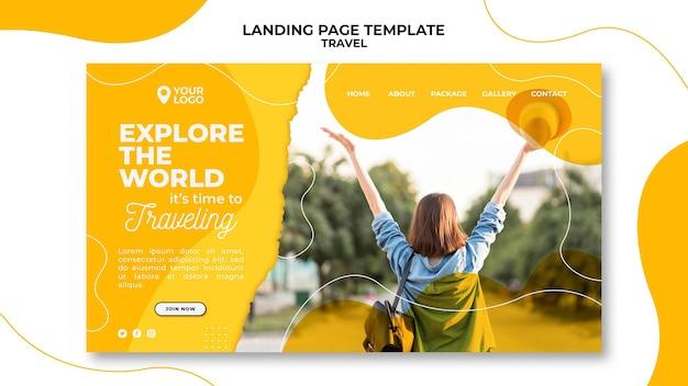 Entdecken sie die landing page der welt Kostenlosen PSD