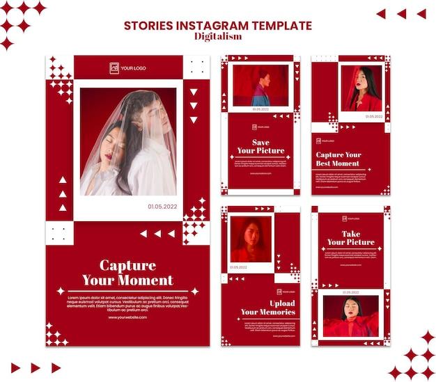 Erfassen sie den moment der instagram-story-vorlage Premium PSD