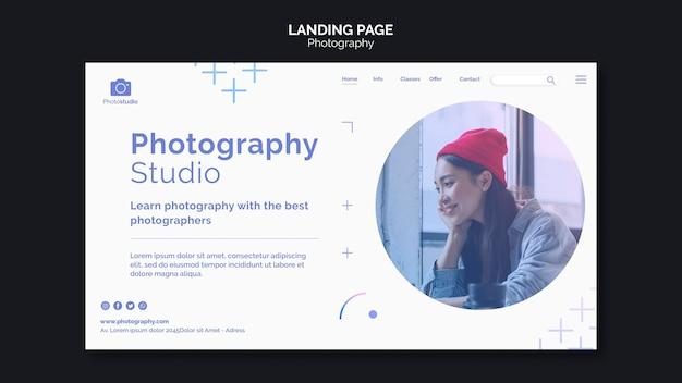 Erstellen sie ihre landingpage-vorlage für das bildfotostudio Kostenlosen PSD