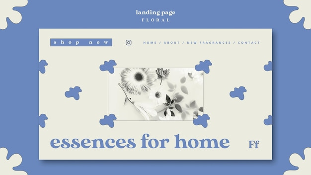 Essences for home concept landing page Kostenlosen PSD