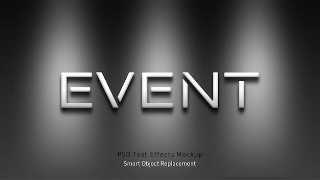 Event 3d-mockup für texteffekte Premium PSD