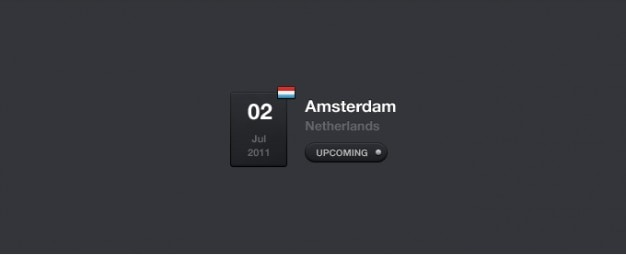 Event-kalender widget psd Kostenlosen PSD