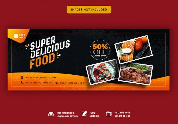 Facebook cover banner vorlage für essen und restaurant Premium PSD