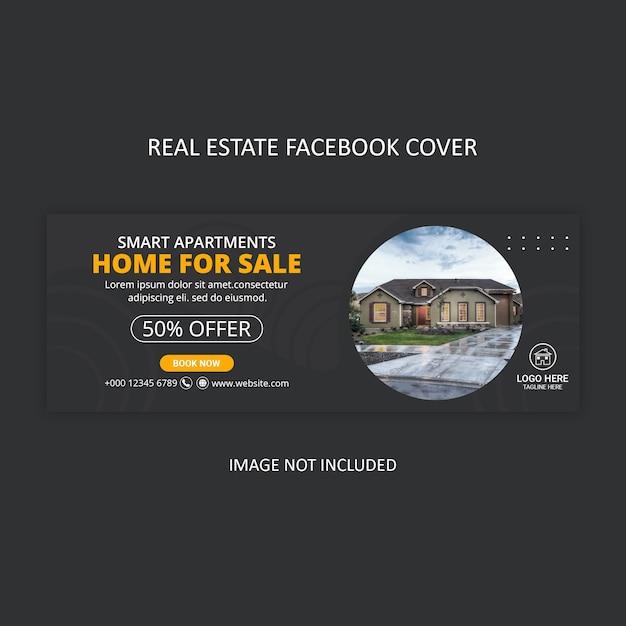 Facebook cover design für immobilienagentur Premium PSD