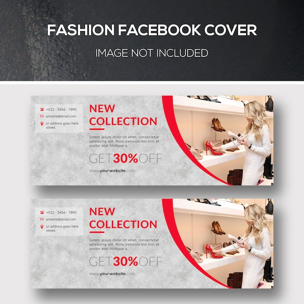 Facebook-cover für mode Premium PSD