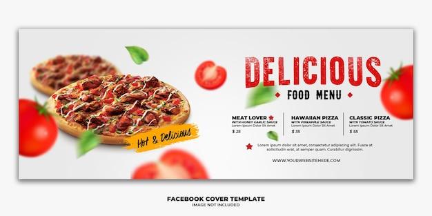 Facebook cover post banner vorlage für restaurant fast food menü pizza Premium PSD