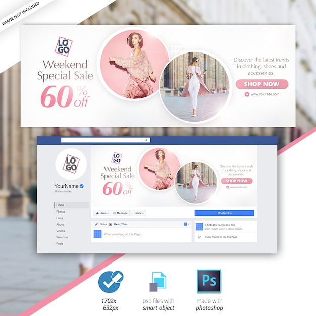 Facebook-cover-verkauf social media web banner Premium PSD