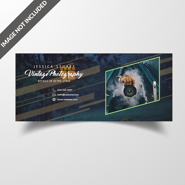 Facebook cover vorlage für fotografie Premium PSD