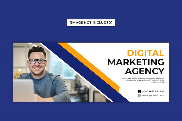 Facebook-deckblattvorlage der digital marketing agency Premium PSD