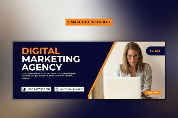 Facebook-deckblattvorlage der digital marketing agency Premium PSD