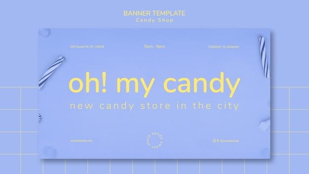 Fahnendesign für süßigkeitengeschäftsschablone Kostenlosen PSD