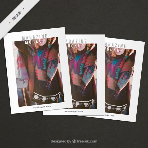 Fashion abdeckung magazin mockups Kostenlosen PSD