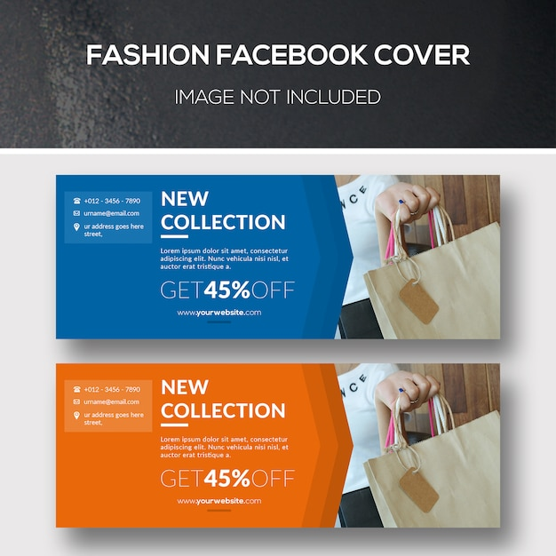 Fashion facebook cover Premium PSD