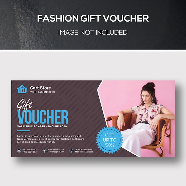 Fashion geschenkgutschein Premium PSD