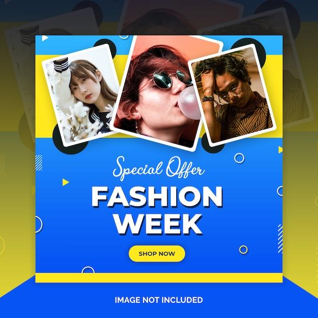 Fashion instagram beitragsvorlage Premium PSD