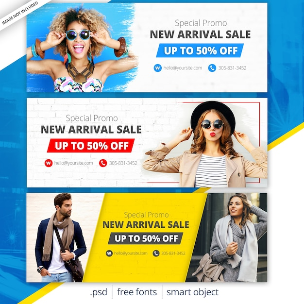 Fashion sale facebook covers Premium PSD