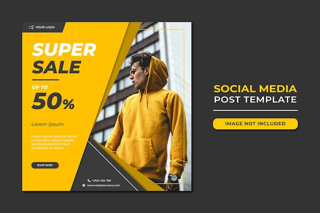 Fashion sale social media beitragsvorlage Premium PSD