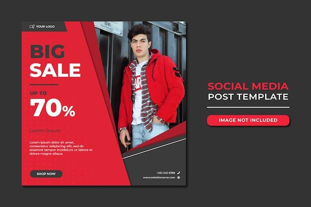 Fashion sale social media beitragsvorlage Premium PSD